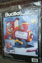 Bucilla 6119 Coloring Express Plastic Canvas Kit  Bear Train Unopened 1994 - $9.89