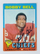 Bobby Bell 1971 Topps Signed Hall of Fame HOF Autographed Kansas City Ch... - $18.97