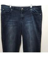 Jessica Simpson Blue Jeans Forever Skinny  Size 32 Denim Straight Leg - $11.89