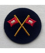 WW2 German Kriegsmarine signals rating career sleeve cloth insignia - $19.00