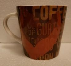 NEW Starbucks Coffee Large Mug - 2006 - GUATEMALA - Brown Orange and Gol... - $33.65