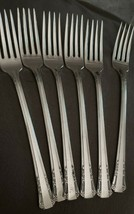 Lot of 6 Forks Del Mar Pattern 1881 Rogers Oneida Silverplate Silverware - $22.76