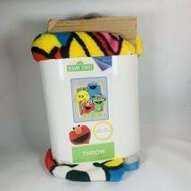 "Sesame Street Throw Blanket - Kids 46""x60"" Elmo Cookie Monster Big Bird - $21.77"
