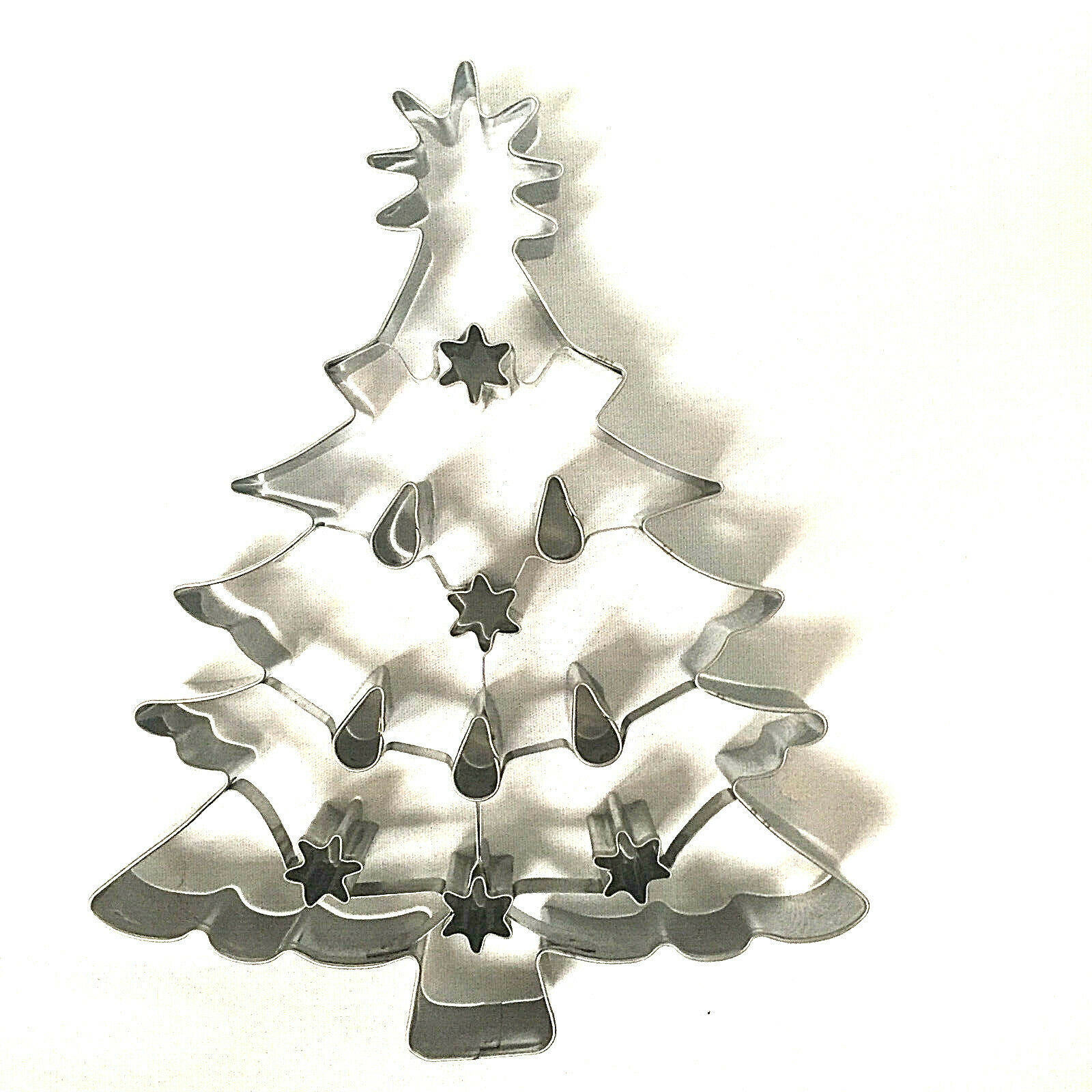 Christmas Tree Cookie Cutter Williams Sonoma Large Alunimum 8 Inches image 3