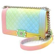 CHANEL Boy Chanel Multicolor Caviar Leather Shoulder Bag Authentic 4942368 - $6,499.28