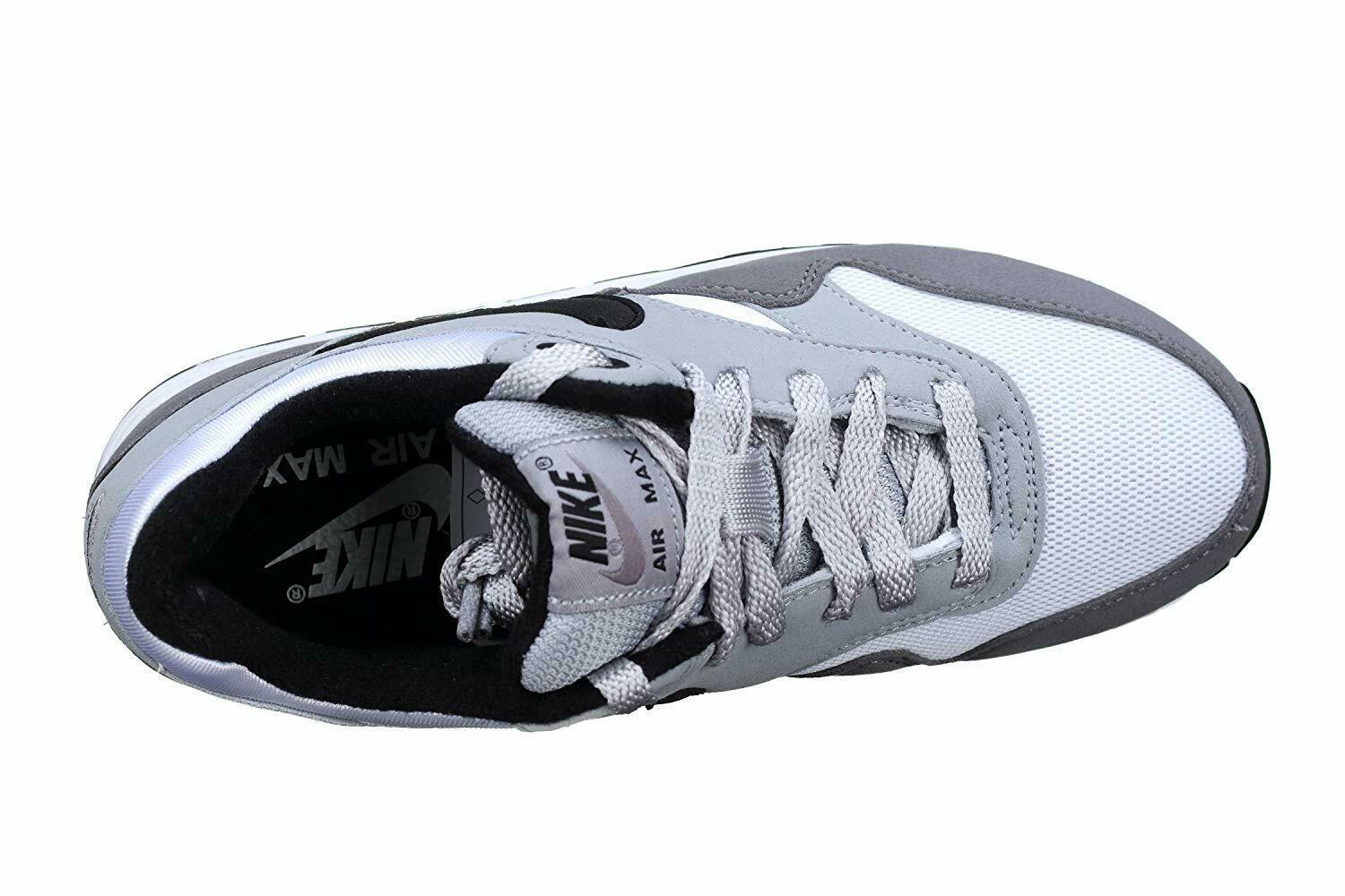 Nike Air Max 1 (GS) White Black Wolf Grey Gunsmoke Kids Running Shoes 807602 108 image 4