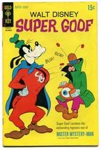Walt Disney Super Goof 15 FN 6.5 Gold Key 1970 Bronze Age - $11.87