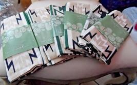 set of 8 Home Trends  tan, green and black Sedona print napkins - $16.95