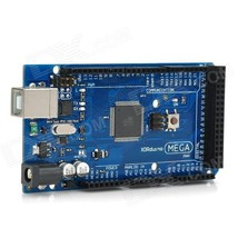 Mega 2560 R3 ATmega2560-16AU Board + USB Cable for Arduino -Black+Blue - $22.22