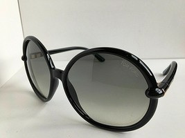Tom Ford CTF16701B 59mm Black Round Oversized Sunglasses T1 - $119.99