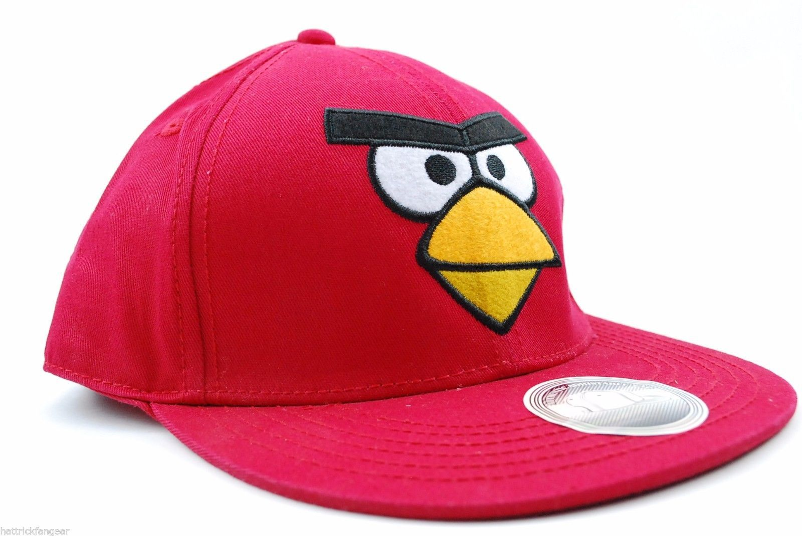 CONCEPT ONE ANGRY BIRDS VIDEO GAME SNAP BACK FLAT BILL CAP/HAT - RED - OSFM