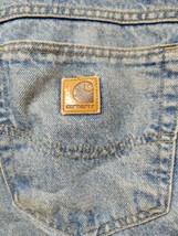 Carhartt SF8517 Flannel Lined Denim Work Jeans Size 44x32 0250 - $19.60
