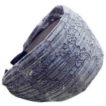 Fold Lace Headband Fashion Hairband Wide Headwrap Hair Accessories(Light Grey)