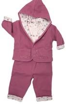 Kissy Kissy Baby Girls Pink Size 9 Months 3pc Jacket Top Pant Reversible... - $45.82