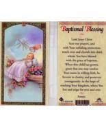 Baptismal Blessing Laminated Prayer Card - Item EB716- Catholic Laminated - $1.99
