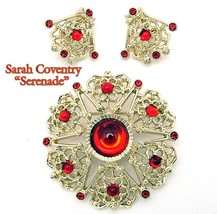 Sarah Coventry Brooch & Earrings Serenade Demi Parure Early 70s - $19.95