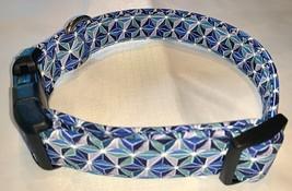Bright Blue Geometric Dog Collar - $15.99