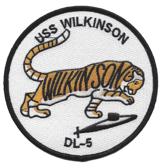 "Primary image for 4.5"" NAVY USS WILKINSON DL-5 EMBROIDERED PATCH"