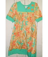 GO SOFTLY Patio Floral Colorful Embroidered MuMu Midi Tent House Dress Sz S - $24.72