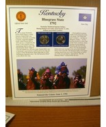 Kentucky Statehood Quarters Collection Postal Commemorative Society - $8.09