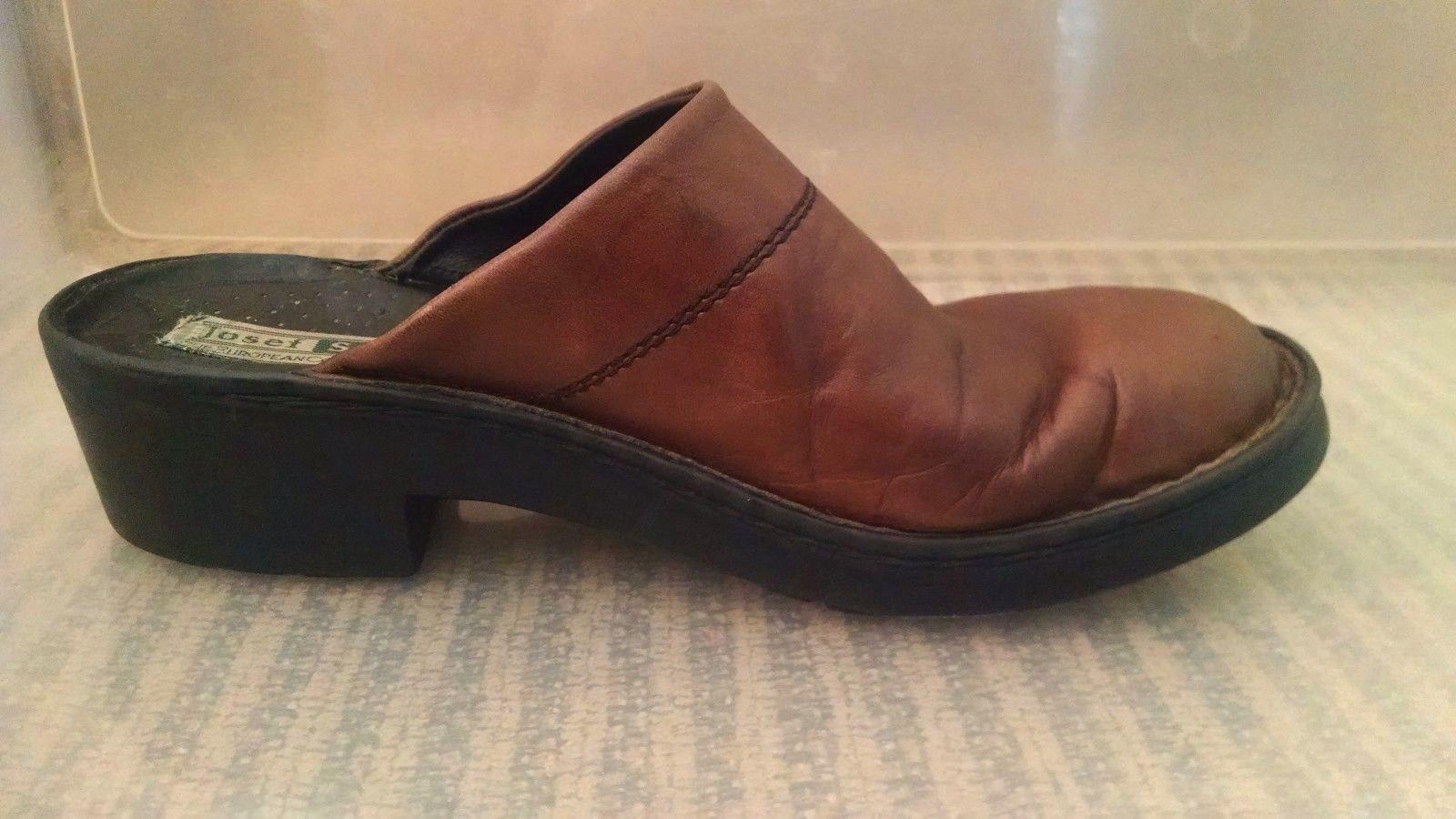Josef Seibel Womens Clogs 38 EU 7 - 7.5 US Mules Slip On European Comfort Shoe image 2