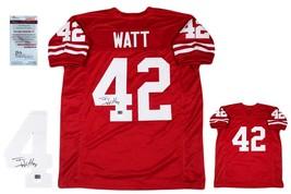 TJ Watt Autographed SIGNED Custom Jersey - JSA Witnessed Authentic - Red - $138.59