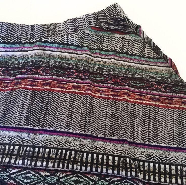 Mossimo Supply Co Multi Color Skater Skirt S Juniors Elastic Waist Semi Sheer
