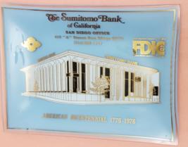 The Sumitomo Bank of California San Diego American Bicentennial Glass Plate - $19.95