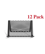 NEW Staples Business Card Holder Stand Mesh Matte Black Wire - $18.90