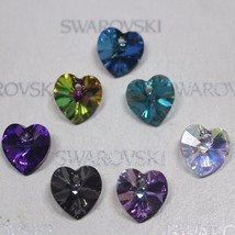 28 pcs 10mm Swarovski Element Xilion Heart Pendants Crystal 6228 6202 ELITE Set - $13.10