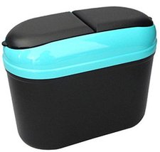 PANDA SUPERSTORE Blue Convenient and Fashionable Car Trash Household Garbage Bin