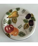 "Oneida Stoneware Round Fruit Dessert Salad Plate 8"" Hand Paint Discontin... - $8.70"