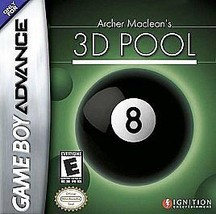 Archer MacLean's 3D Pool (Nintendo Game Boy Advance, 2004) CART ONLY - $3.76