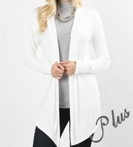 Ivory Plus Size Cardigan, Plus Size Cardigan Sweaters, Ivory, Colbert Clothing