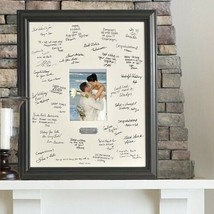 Engraved Wedding Wishes Signature Frame with Engraved Plate Wedding Gifts - $44.93