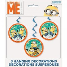 Despicable Me 2 Minions 3 pc Hanging Swirl Decorating Kit - $3.79