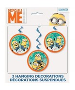 Despicable Me 2 Minions 3 pc Hanging Swirl Decorating Kit - $5.02 CAD