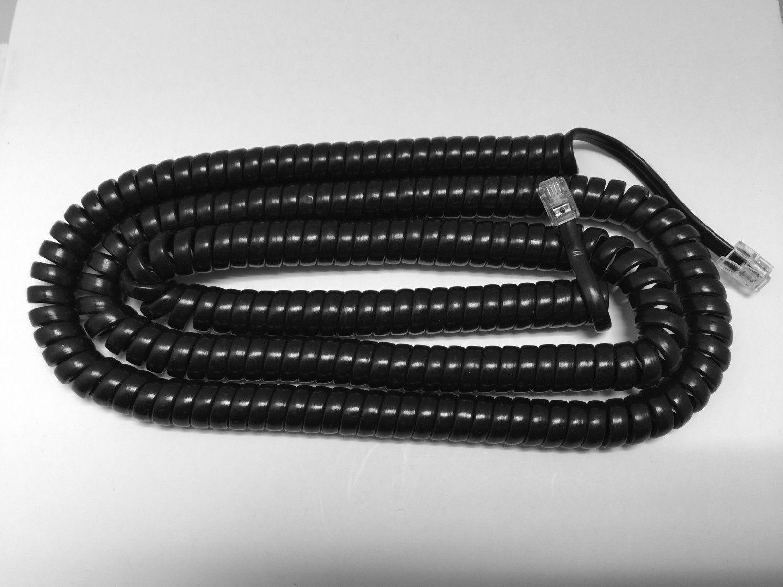 Black 25/' Nortel Norstar Handset Cord M7208 M7310 M7324 M-Series Phone Coil LONG