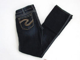 Silver Jeans Womens Frances 18 W30 L33 Slim Boot Cut Dark Denim - $37.40