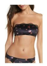 JASON WU Velvet Bandeau Bralette Rose Print Black Size Large $45 - NWT - $9.99