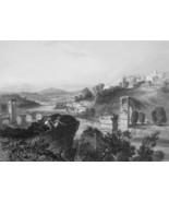 ITALY Nerni & Ruins of  Bridge of Augustus - 1864 Fine Quality Print Eng... - $49.50