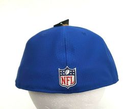 New Era Los Angeles Rams 5950 On Field 2017 Sideline Fitted Hat Blue Size 7 3/8 image 8