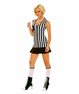 3 Piece Referee Costume Dress Whistle and Knee Hi's Small Adult Woman Theater - $29.98