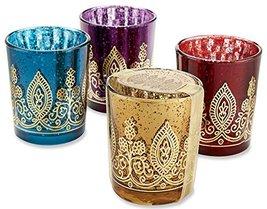 Indian Jewel Henna Votives - Assorted (Set of 4) - $257.05