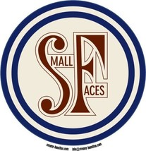 Small Faces composite laminated circular wall plaque 25cm Kinks Who Mod ... - $32.00