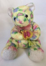 TY 2002 Bloom Bear Flowers Easter Gift Yellow Multi Color Adorable - $14.70