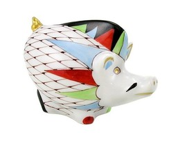 Hungarian Porcelain Hollohaza Fishnet Wild Boar Figurine - $47.08