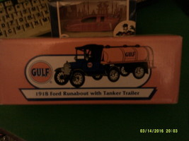 Ertl 1918 Ford Runabout with Tanker Trailer - Gulf-FREE SHIPPING - $35.00