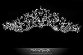 Dita Floral Filigree Silver Tiara | Swarovski Crystal - $62.95