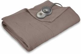 Sunbeam Heated Blanket | 10 Heat Settings, Quilted Fleece, Mushroom, Full - $118.79